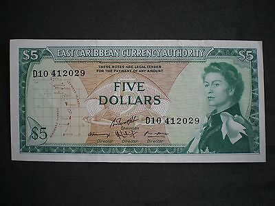 East Caribbean Currency Authority $5 Five Dollar Note - c.1965
