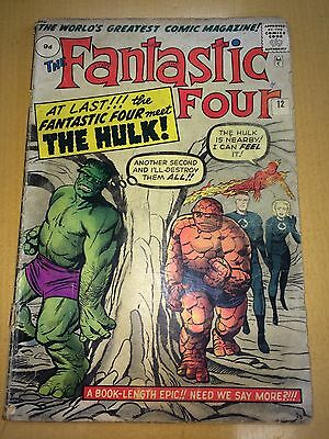 FANTASTIC FOUR 12 GD- At Last the FF Meet the HULK!!!
