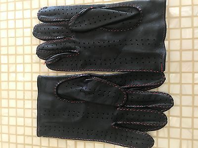 Paul Smith Black Leather Driving Gloves Size Medium Excellent Condition