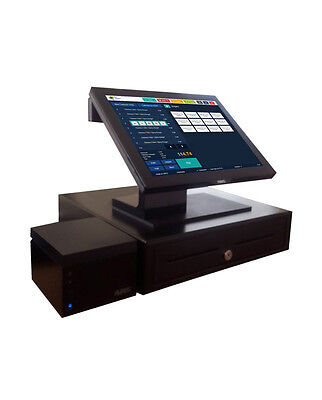 Aures Yuno Epos System Till Touch Screen +Thermal Printer+Cash Register Draw Pos