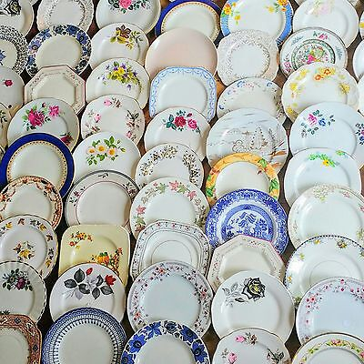 China Mismatch Side Plates Job Lot 40 Mad Hatters Tea Party Mix Wedding Vintage