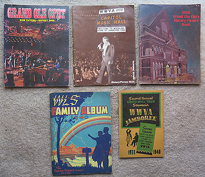 Lot WSM Grand Old Opry History Picture Book WWVA Jamboree 1940 Prairie Farmer