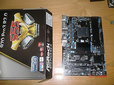 Placa Base Socket AM3  Asrock 970 Pro3 R2.0 + AMD 970 USB 3.0 Sata 3
