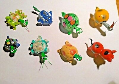 8 Hand made cute loose neck bobble head critters