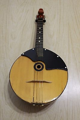 Mint Condition UKRAINIAN 4-string DOMRA PRIMA banjo bowed back folk instrument