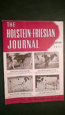 Holstein-Friesian Journal 1957 Canadian Production Champions Of 1956 Issue