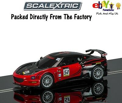 Scalextric Slot Car Lotus Evora GT4 -No.51 Richard Adams 2012 MSA Champion C3504