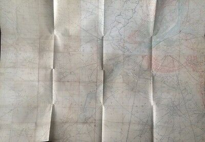 New WW1 Trench Map ST QUENTIN Region March 1918