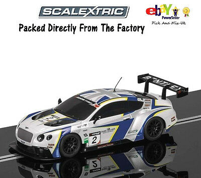 Scalextric Slot Car Bentley Continental GT3 - GT Pirelli World Challenge C3515