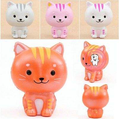 10CM Cat/Kitty/Pussy Squishy Slow Rising Soft Squeeze Charms Scent Kid Toy Gift