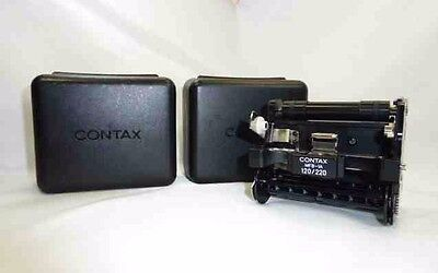 """Excellent!!""Contax 645 MFB-1A 120/220 Film Insert ""w/ 2cases"" from Japan"