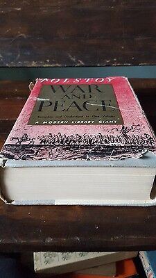 War and Peace Modern Library Giant DJ Old Book