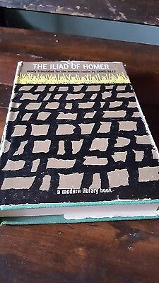 The Iliad of Homer Old Modern Library Book DJ