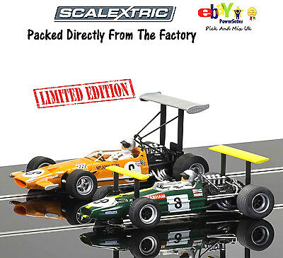Scalextric Slot Cars Legends Brabham BT26A & McLaren M7C Limited Edition C3589A