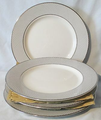 Block Grey Dawn Silver Design 1980 Bread or Dessert Plate set of 4