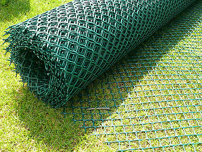 Turf Reinforcement Mesh Green 2 x 10M  Grass Protection Dog Path Mat + 50 Pins