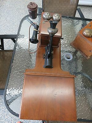 Antique Sumter Electric Cherry Wall Telephone