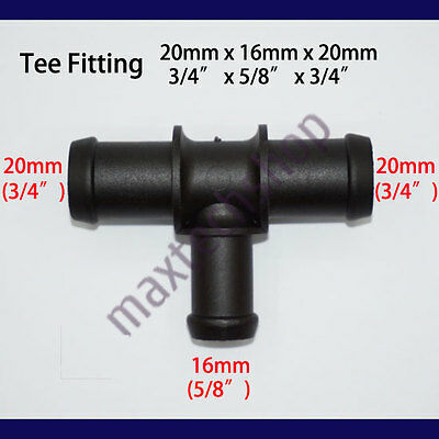 3/4 x 5/8 x 3/4 | 20mm-16mm-20mm Tee Heater Water Hose Fitting Barbed Volkswagen