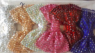 Joblot 12pcs Large Bow Design Sparkly hairclips hairgrips NEW wholesale lot 2
