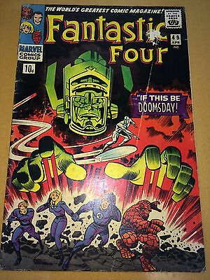 FANTASTIC FOUR 49 VG- Great Galactus Cover CLASSIC Lee & Kirby