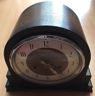 Antique Vintage Oak Mantel Clock (1429)