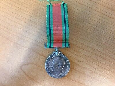 Original WWII Canadian Silver Struck Defense Medal with Ribbon