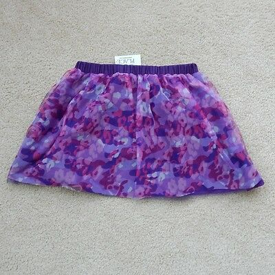 NWT The Children's Place Girl's NAPA Grape Purple Print Skirt , size L 10/12
