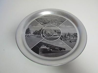 """Vintage Ashland Wisconsin Souvenir Metal Tray with Pictures 11"""""""