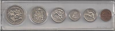 Canada 1970 Uncirculated Nickel Mint Set  { 6 Coins }