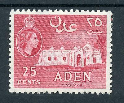 Aden 1953-63 25c with Crack in Wall SG54a MM - quite lightly hinged