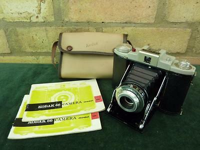 nice vintage Kodak 66 Model III folding camera 120 roll film
