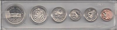 Canada 1973 Uncirculated Nickel Mint Set  { 6 Coins }