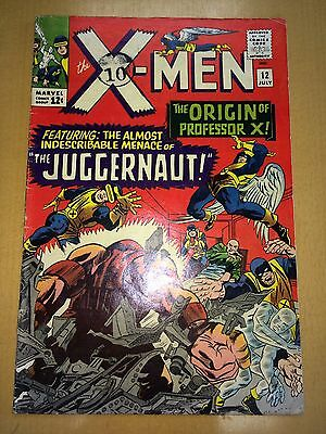 X-Men 12 VG Origin of Professor X & the Juggernaut KEY Issue