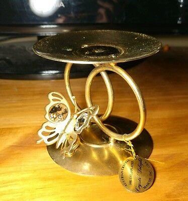Collectors 24kt gold plated Candle Holder