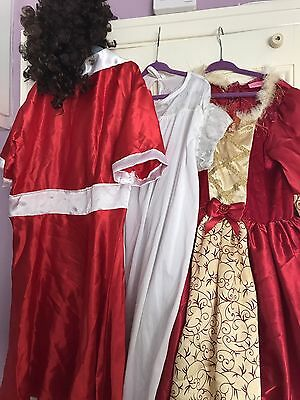 Fancy Dress Outfits Costumes Bundle Job Lot Girls Annie Disney  Victorian Play