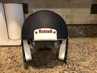 Riddell Revo SPEED Football Helmet Matte Navy Blue w/ NO Facemask Adult Large