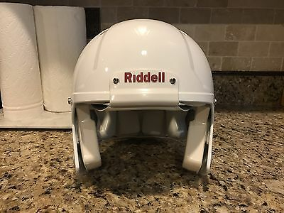Riddell Revo SPEED Football Helmet White w/ NO Facemask Adult Large