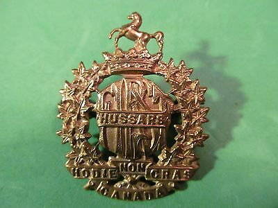 WW2 Canadian First Hussars Cap Badge