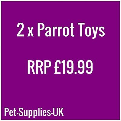 Parrot Bird Toy Pack A, Swing, Chewing, For African Greys, Amazons, Cockatoo etc