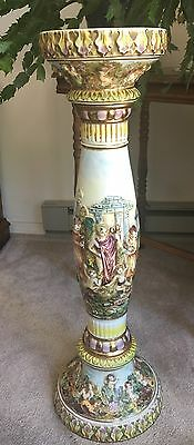 Vintage Capodimonte 1424 Porcelain Pedestal - Marked