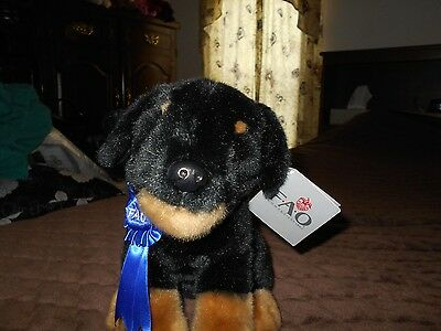 fao schwarz rottweiler with blue ribbon