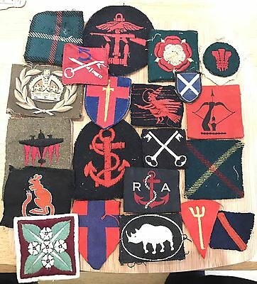 Original WW2 Formation Signs Cloth Shoulder Titles Badges