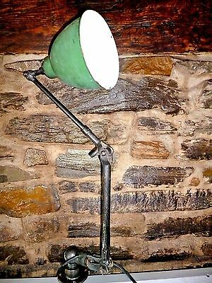 early all original  factory/machinists lamp, Revo, enamel shade.1930's?