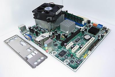 Scheda Madre HP 480429-001 MSI MS-7525 con CPU Intel Socket 775 Dual Core e Ram