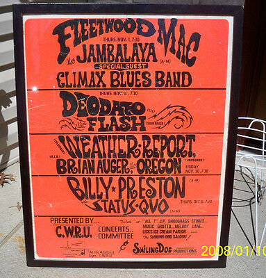 Cleveland Music FLEETWOOD MAC onsite poster Climax Blues Status Quo Weather Rpt