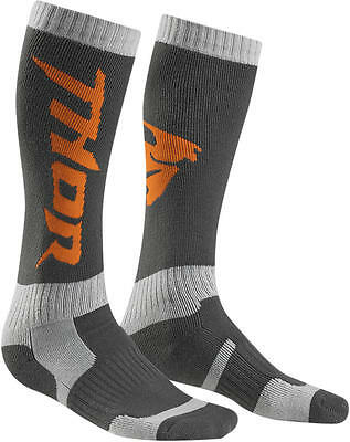 Thor Strümpfe Mx S6 Long Sock Charcoal/orange 10-13
