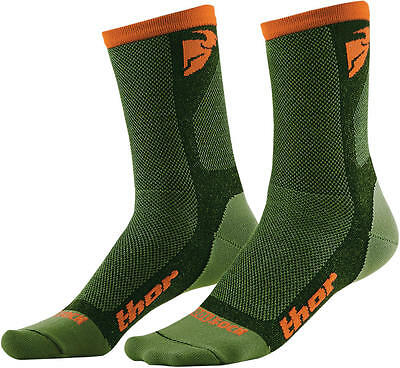 Thor Strümpfe Dual Sport S6 Casual Sock Green/orange 6-9