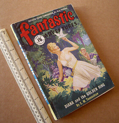 1950s Fantastic Adventures #2? Vintage British Sci-Fi Pulp Mag Great Cover Art