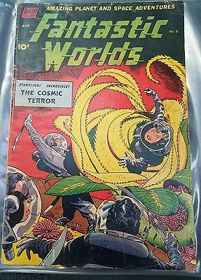 Fantastic Worlds #6 Nice Pre-Code Golden Age Alien Space Comic 1952 RARE