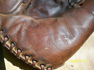 Excellent OLD Bill Doak Model H baseball glove mitt - pre H connection !